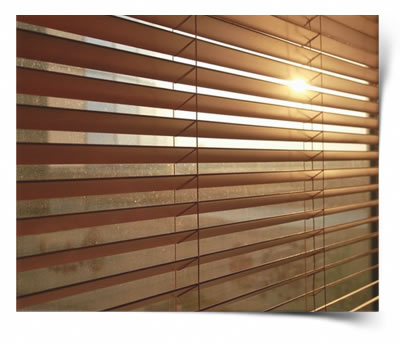 The light filters through the 50mm basswood Venetian blind that is open. This picture really shows the quality of the product that we can provide.